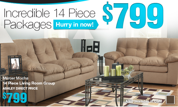 Incredible 14 Piece Packages - Hurry in now! - $799