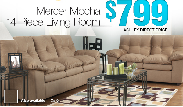 Mercer Mocha - 14 Piece Living Room - $799